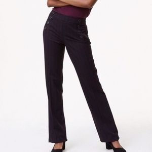 LOFT JULIE TROUSER NAVY BLUE AND MAROON STRIPES